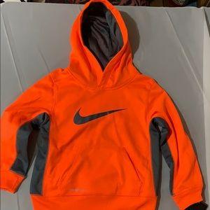 Nike Orange, Dark Gray Therma-Fit Hood Sweatshirt